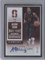 College Ticket Autographs - Anthony Brown /99