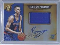 Rookie Jersey Autographs Jumbo - Kristaps Porzingis /49