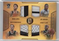 Bojan Bogdanovic, Jarrett Jack, Joe Johnson, Brook Lopez /25