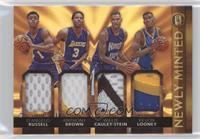Anthony Brown, D'Angelo Russell, Kevon Looney, Willie Cauley-Stein /15