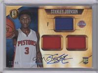 Rookie Jersey Autographs Triple - Stanley Johnson /99 [Near Mint‑Min…