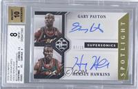 Hersey Hawkins, Gary Payton /10 [BGS8]