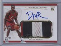 Rookie Patch Autographs - Delon Wright /99