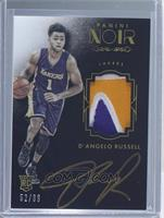 Auto Patch Color Rookies - D'Angelo Russell /99