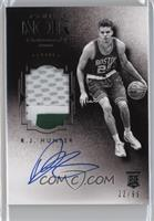 Auto Patch Black and White Rookies - R.J. Hunter /99