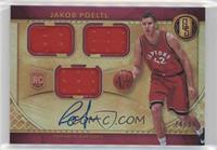Rookie Jersey Autographs Triple - Jakob Poeltl /99