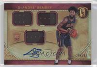 Rookie Jersey Autographs Triple - DeAndre' Bembry /99