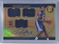 Rookie Jersey Autographs Triple - Deyonta Davis /99