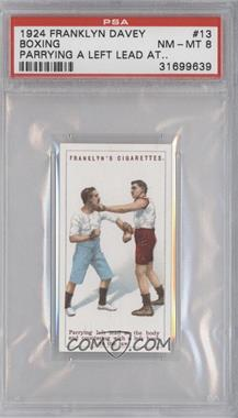1924 Franklyn, Davey & Co. Boxing - [Base] #13 - Parrying left lead… [PSA8]