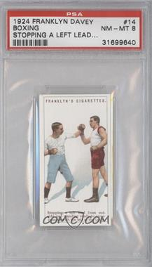 1924 Franklyn, Davey & Co. Boxing - [Base] #14 - Stopping a left lead… [PSA8]