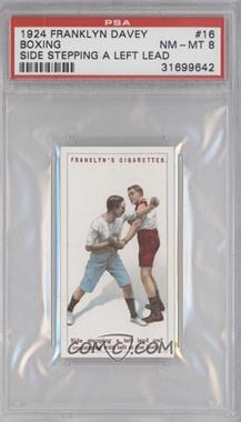 1924 Franklyn, Davey & Co. Boxing - [Base] #16 - Side stepping a left lead… [PSA 8]