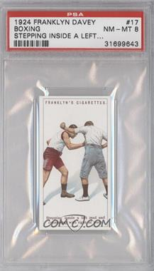 1924 Franklyn, Davey & Co. Boxing - [Base] #17 - Stepping inside a left lead… [PSA 8]