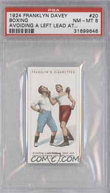 1924 Franklyn, Davey & Co. Boxing - [Base] #20 - Avoiding a left lead at head… [PSA 8]