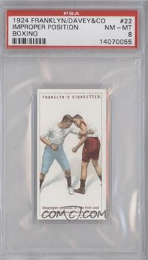 1924 Franklyn, Davey & Co. Boxing - [Base] #22 - Improper position of the feet… [PSA 8]