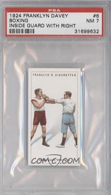 1924 Franklyn, Davey & Co. Boxing - [Base] #6 - Inside guard with right [PSA7]