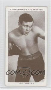 1938 Churchman's Boxing Personalities - Tobacco [Base] #1 - Lou Ambers [Good to VG‑EX]