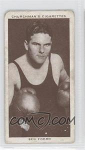1938 Churchman's Boxing Personalities - Tobacco [Base] #16 - Ben Foord [Good to VG‑EX]