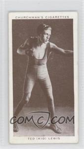 """1938 Churchman's Boxing Personalities - Tobacco [Base] #25 - Ted """"Kid"""" Lewis [GoodtoVG‑EX]"""