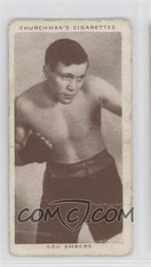 1938 Churchman's Boxing Personalities Tobacco [Base] #1 - Lou Ambers [Good to VG‑EX]