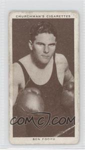 1938 Churchman's Boxing Personalities Tobacco [Base] #16 - Ben Foord [Good to VG‑EX]