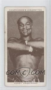 1938 Churchman's Boxing Personalities Tobacco [Base] #2 - Henry Armstrong [Good to VG‑EX]
