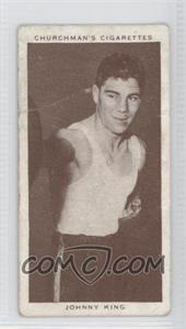1938 Churchman's Boxing Personalities Tobacco [Base] #23 - Johnny King [Good to VG‑EX]