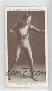 """1938 Churchman's Boxing Personalities Tobacco [Base] #25 - Ted """"Kid"""" Lewis [GoodtoVG‑EX]"""