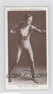 "1938 Churchman's Boxing Personalities Tobacco [Base] #25 - Ted ""Kid"" Lewis [Good to VG‑EX]"