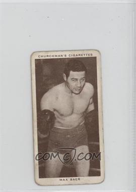1938 Churchman's Boxing Personalities Tobacco [Base] #3 - Max Baer [GoodtoVG‑EX]