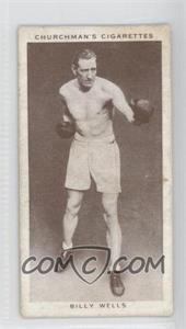 1938 Churchman's Boxing Personalities Tobacco [Base] #38 - Billy Wells [Good to VG‑EX]
