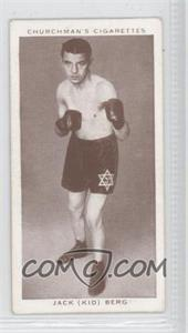 "1938 Churchman's Boxing Personalities Tobacco [Base] #4 - Jack ""Kid"" Berg [Good to VG‑EX]"