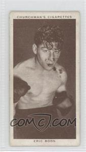 1938 Churchman's Boxing Personalities Tobacco [Base] #5 - Eric Boon [Good to VG‑EX]