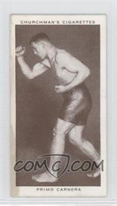 1938 Churchman's Boxing Personalities Tobacco [Base] #7 - Primo Carnera [Good to VG‑EX]