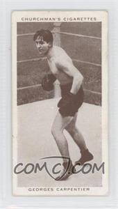 1938 Churchman's Boxing Personalities Tobacco [Base] #8 - Georges Carpantier [GoodtoVG‑EX]