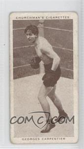 1938 Churchman's Boxing Personalities Tobacco [Base] #8 - Georges Carpantier [Good to VG‑EX]