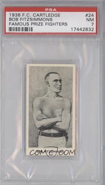 1938 Fred C. Cartledge Razors Famous Prize Fighters - [Base] #24 - Bob Fitzsimmons [PSA7]