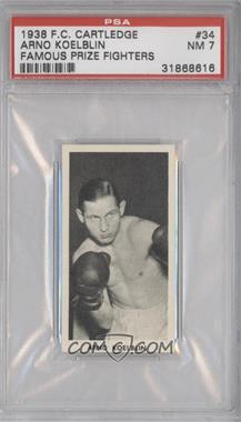 1938 Fred C. Cartledge Razors Famous Prize Fighters #34 - Arno Koelblin [PSA7]