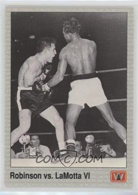 1991 All World Boxing #144 - Sugar Ray Robinson, Jake LaMotta