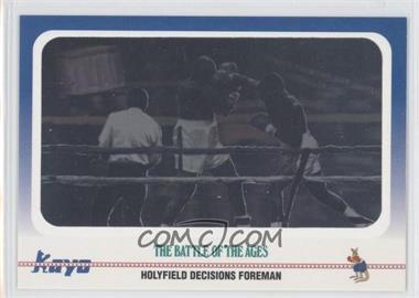 1991 Kayo #100 - Evander Holyfield, George Foreman