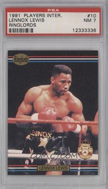 1991 Ringlords #10 - Lennox Lewis [PSA 7]
