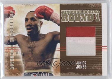 2010 Ringside Boxing Round 1 - Authentic Memorabilia - Gold #AM-06 - Junior Jones /10