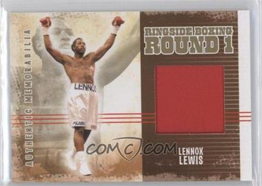 2010 Ringside Boxing Round 1 Authentic Memorabilia Gold #AM-12 - Lennox Lewis /10