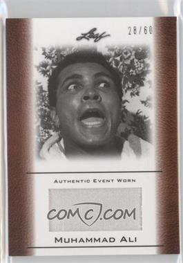 2011 Leaf Ali The Greatest - Event Worn Memorabilia Swatch #EW-42 - Muhammad Ali /60