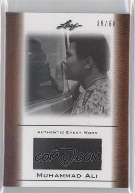 2011 Leaf Ali The Greatest Event Worn Memorabilia Swatch #EW-14 - Muhammad Ali /60