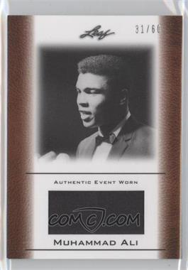 2011 Leaf Ali The Greatest Event Worn Memorabilia Swatch #EW-22 - [Missing] /60