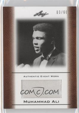 2011 Leaf Ali The Greatest Event Worn Memorabilia Swatch #EW-22 - Muhammad Ali /60