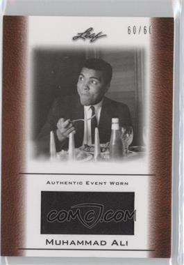 2011 Leaf Ali The Greatest Event Worn Memorabilia Swatch #EW-31 - [Missing] /60