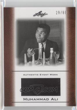 2011 Leaf Ali The Greatest Event Worn Memorabilia Swatch #EW-31 - Muhammad Ali /60