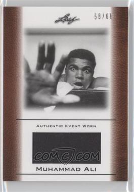 2011 Leaf Ali The Greatest Event Worn Memorabilia Swatch #EW-33 - Muhammad Ali /60