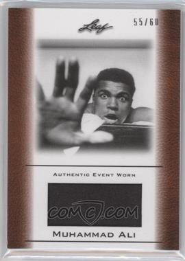 2011 Leaf Ali The Greatest Event Worn Memorabilia Swatch #EW-33 - Muhammad Ali /60